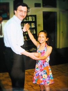 Me and Dad.  I miss that dress.